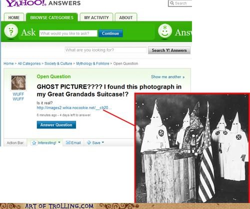 kkk not sure if trolling racism Yahoo Answer Fails