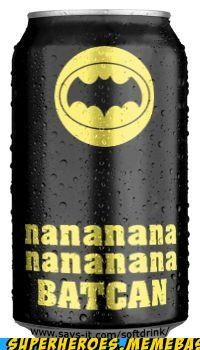 awesome batman pun Random Heroics soda can song - 4842051072