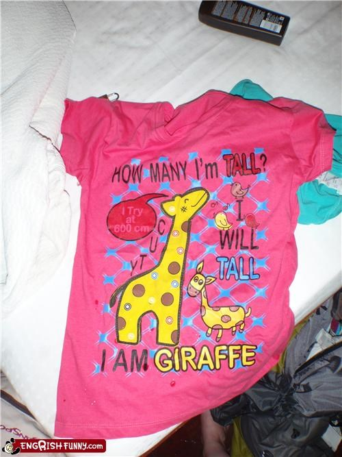 engrish giraffes shirt tall