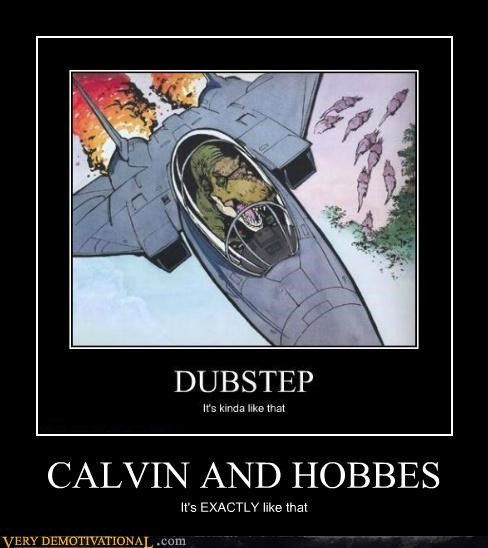 calvin-hobbes dinosaur f-14 hilarious t rex - 4842636032