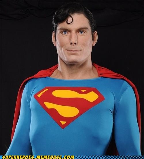 Awesome Art crazy life-like sculpture superman