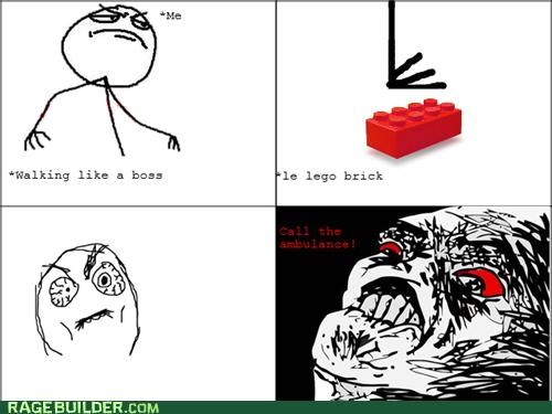 ambulance,lego brick,pain,Rage Comics,the oldest sauce