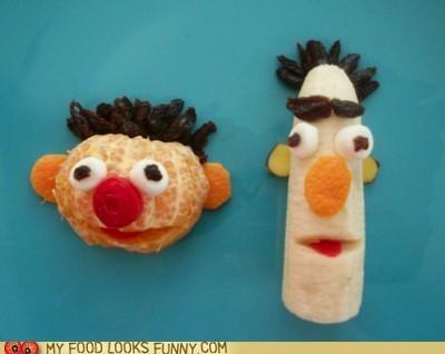 art,bert,ernie,fruit,muppets,Sesame Street,snack