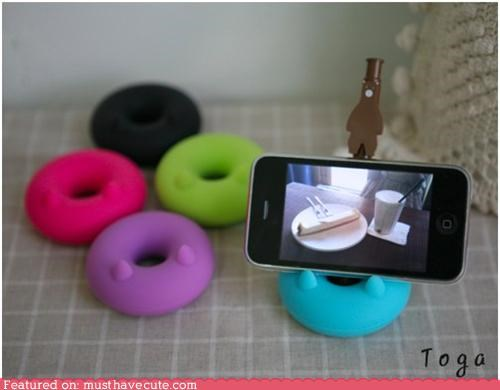 donut handy pen holder phone stand rubber