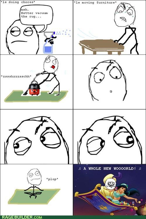 aladdin,carpet,cleaning,disney,movies,Rage Comics