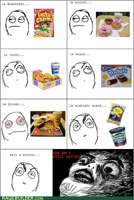 eating gross junk food Rage Comics