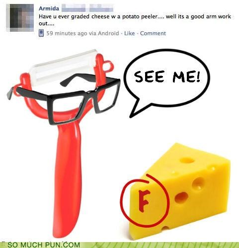 answer,cheese,double meaning,facebook,FAIL,grade,grader,grades,grater,literalism,potato,question,similar sounding