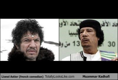 Lionel Astier (french comedian) Totally Looks Like Muammar Kadhafi