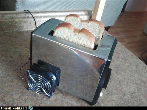 appliance fan kitchen kludge overkill toast - 4843264768