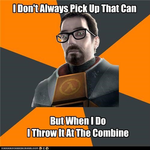 achievement,can,combine,gordon freeman,half life,pick up,the most interesting man in the world,video games