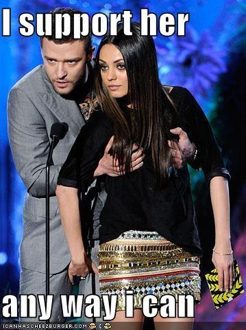 actor celeb funny Justin Timberlake mila kunis - 4843321088