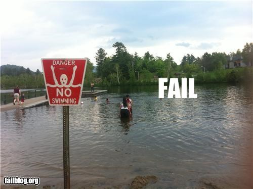 directions failboat g rated signs swimming warning - 4843347456