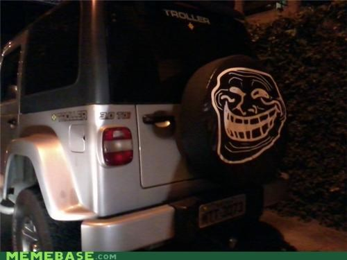cars,face,suv,tire,troll face,troller
