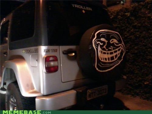 cars face suv tire troll face - 4843392256