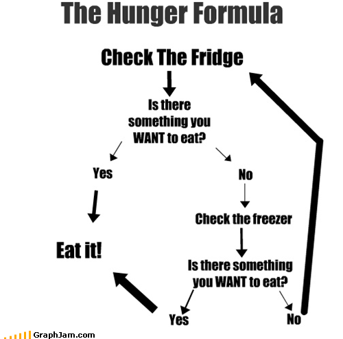 empty,flow chart,food,fridge,hungry