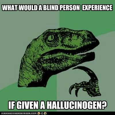 blind,braille,drugs,hallucination,hallucinogen,philosoraptor