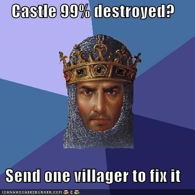 age of empires,castle,destruction,mexico,racism,video games,villager