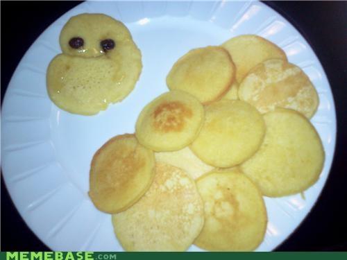 food,forever,forever alone,IRL,pancake,raisins