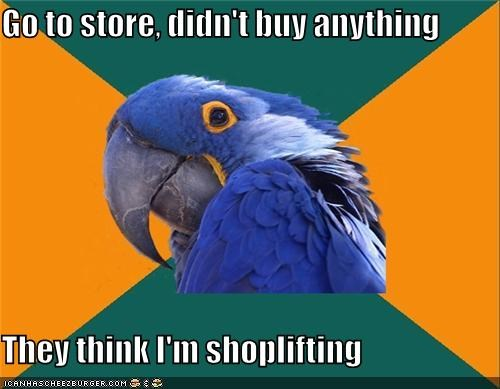 buying,gum,Paranoid Parrot,shoplifting,stolen,store
