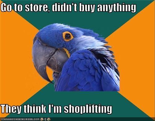 buying gum Paranoid Parrot shoplifting stolen store - 4844658688