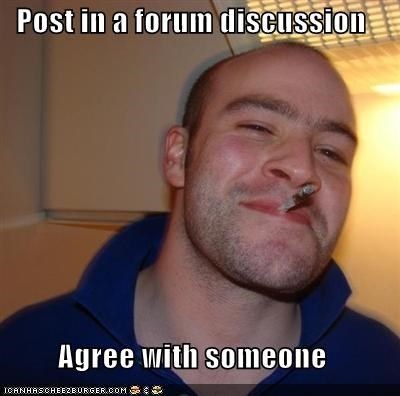 Post in a forum discussion Agree with someone