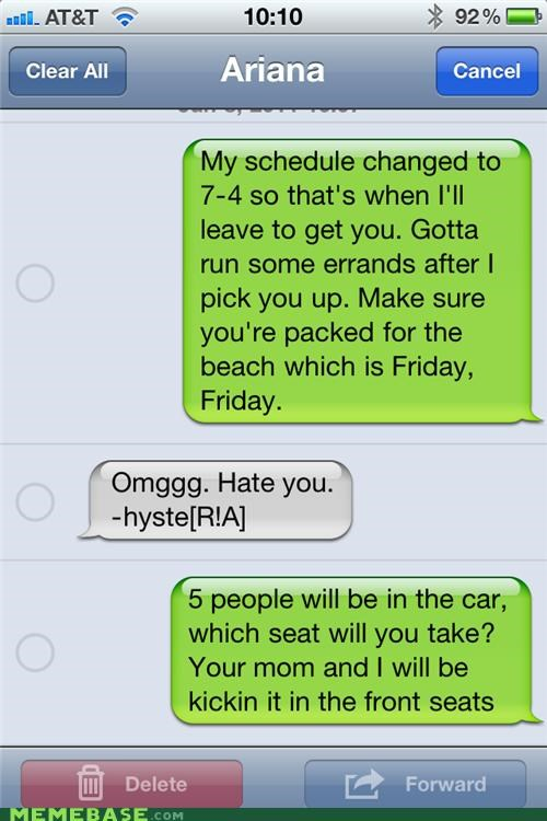 car FRIDAY parents Rebecca Black seat troll - 4845449216