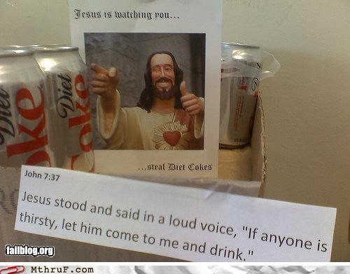coke jesus refrigerator - 4845819392