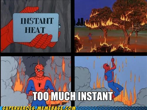 bad idea fire Heat instant Spider-Man Super-Lols - 4846201856