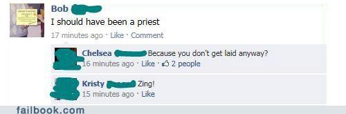 oh snap priest witty reply zing - 4846205184