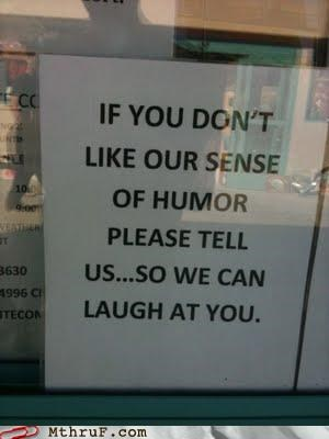 humor laughter sign