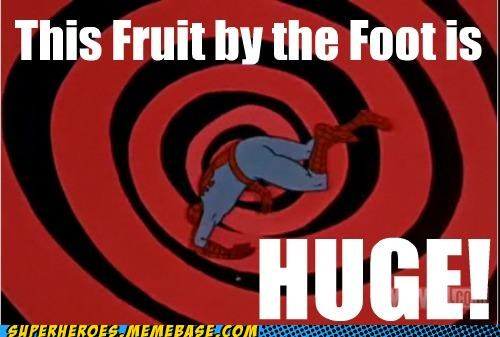awesome fruit by the foot huge Spider-Man Super-Lols - 4846255616