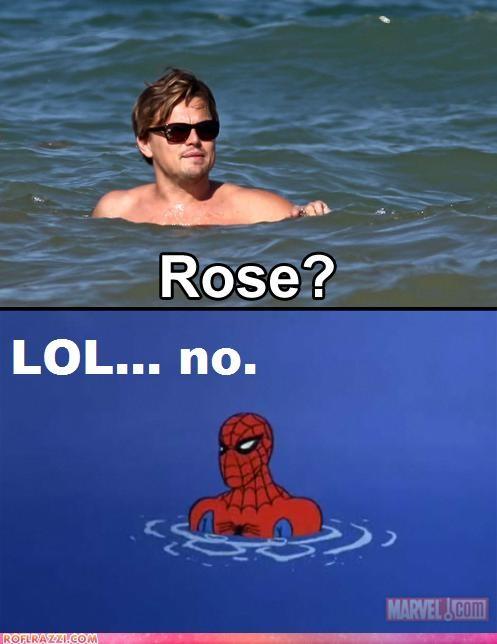 actor celeb comic funny leonardo dicaprio meme Spider-Man - 4846321408