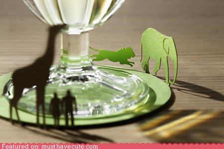 animals chase coaster cutout fold - 4846440192