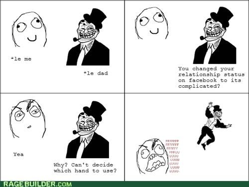 facebook,Rage Comics,troll dad,which hand