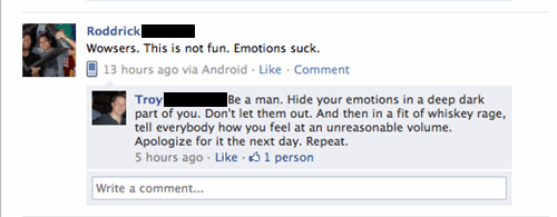 masculine,manly,emotions,be a man,failbook
