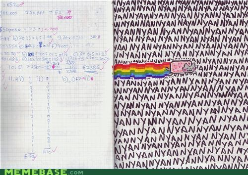 anger,IRL,notes,Nyan Cat,school,teacher
