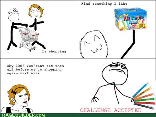 can-too Challenge Accepted ice pops Rage Comics - 4846741504
