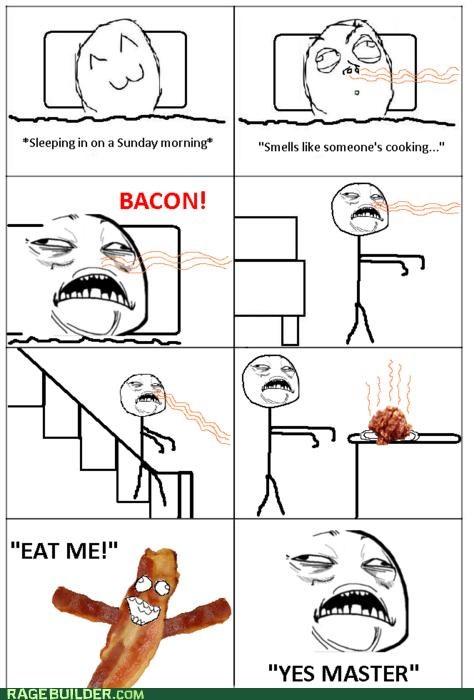 bacon delicious noms Rage Comics - 4846780416