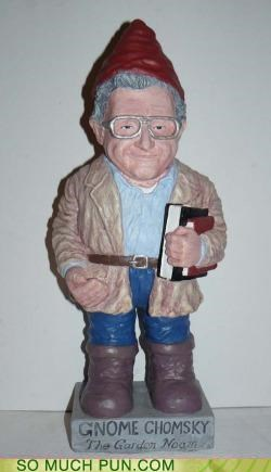 gnome hashtag homophone insult lawn gnome lolwut noam chomsky ornament twitter - 4846877952