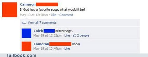 black humor bring on the downvotes soup wtf