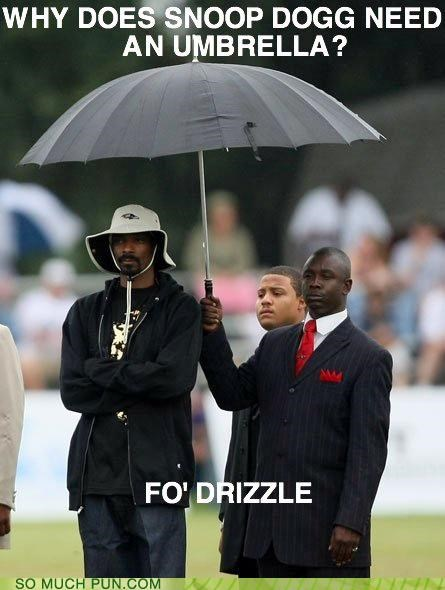 answer doggy style double meaning drizzle Hall of Fame izzle literalism question snoop dogg suffix umbrella
