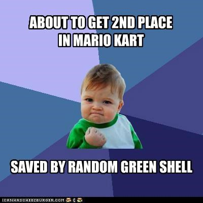 kart,mario bros,shell,success kid,video games