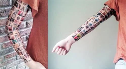 Bad Idea Sleeve Facebook Tattoo Fake Fakery hoax - 4847319040