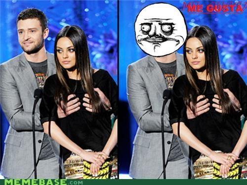 Awards,celeb,Justin Timberlake,kunis,me gusta,mila