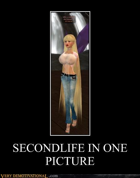 blonde hilarious lady bags one image second life video games - 4847620352