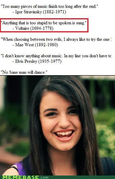 candide dumb Rebecca Black Songs Voltaire writing - 4847633152