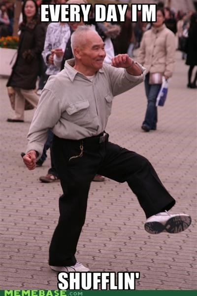 asia,Grandpa,Party,shufflin
