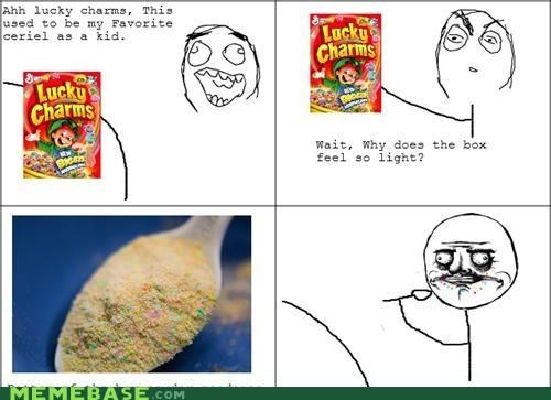 angel dust cereal lucky charms marshmallow bits noms Rage Comics