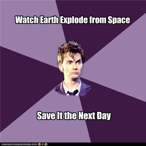 doctor who earth explosion Memes save space television time - 4847997696