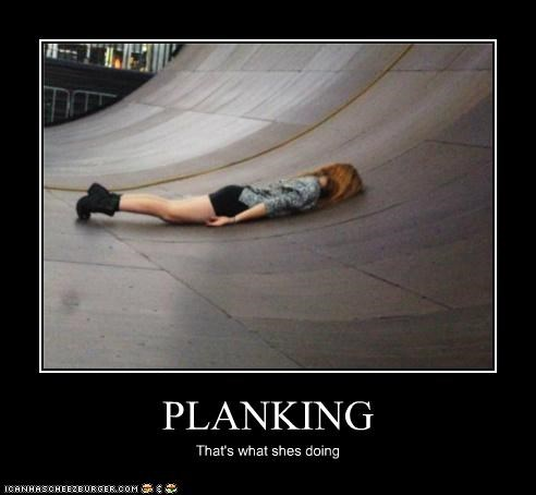 PLANKING That's what shes doing